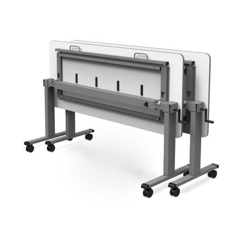 "60"" Adjustable Flip-Top Table, Crank Handle"