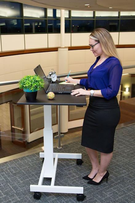"40"" Single-Column Crank Stand Up Desk"