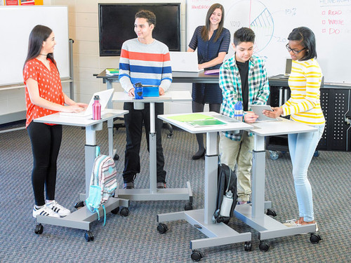 Student Desk - Pneumatic Sit Stand Desk
