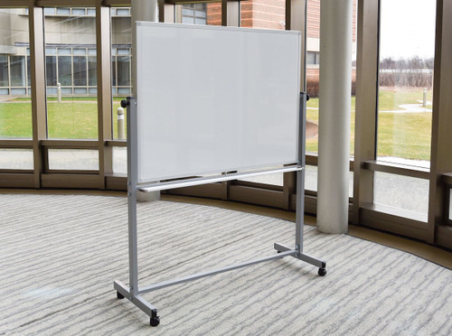 "48""W x 36""H Double-Sided Magnetic Whiteboard"