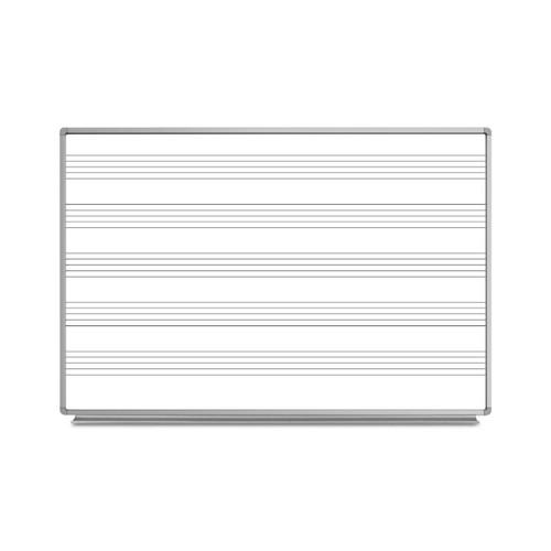 "72""W x 48""H Wall-Mount Music Whiteboard"