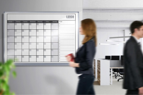 """48""""W x 36""""H Magnetic Dry-Erase Monthly Calendar"""