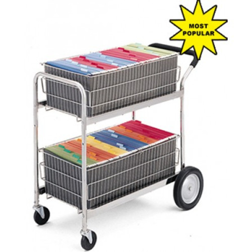 Charnstrom  Mail Delivery Cart with 2 Removable File Baskets