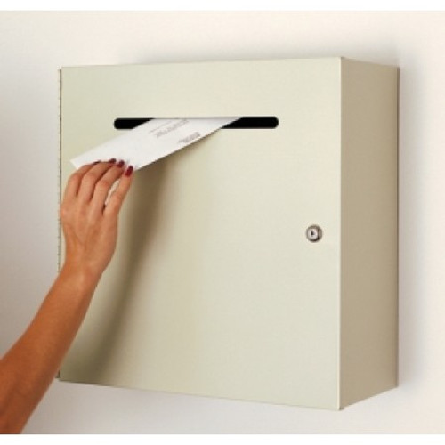 """Charnstrom Steel Wall Mount Mail Drop Box - Large 18"""" Wide"""