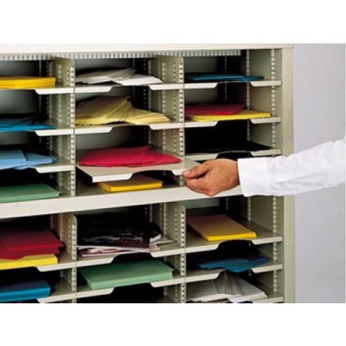 "Charnstrom Mailroom Supplies 11-1/2""W x 12-1/4""D Extra Mail Sorter Shelf"