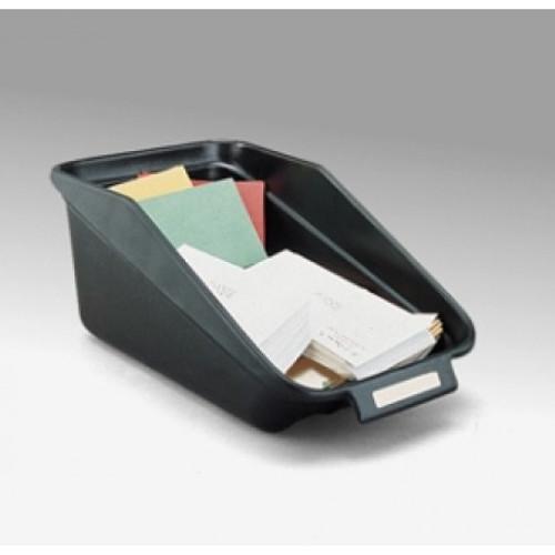 """Charnstrom Mail Room Supplies 10-1/4""""W Standard Black Bin"""