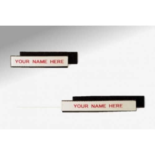 """Charnstrom Mail Room Supplies Shelf Identification 3""""W x 1/2""""H Velcro Backed, Removable Shelf Label (Package of 25)"""