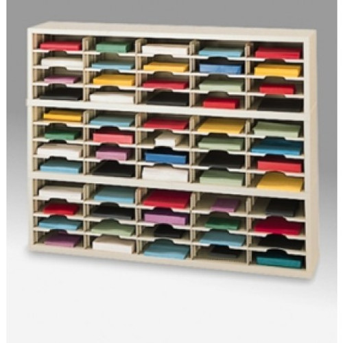 """Charnstrom 60"""" Wide Mail Sorters - 60 Pockets"""