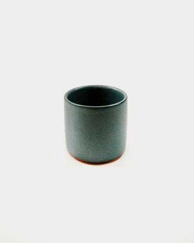 Teal Stoneware Cup