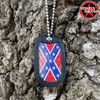Confederate Diamond Plate Dog Tag + FREE Chain + Silencer