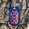 Confederate Flag Don't tread on Me Dog Tag + FREE Chain + Silencer