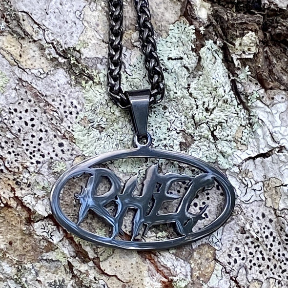 RHEC Stainless Steel Charm and Necklace