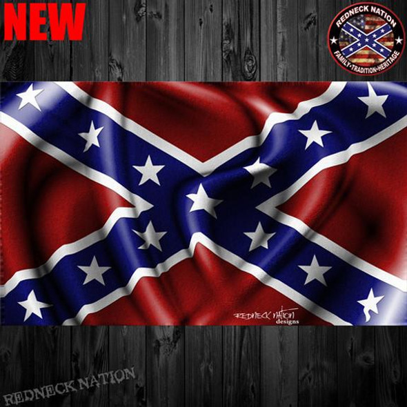 Confederate Flag Waving Decal