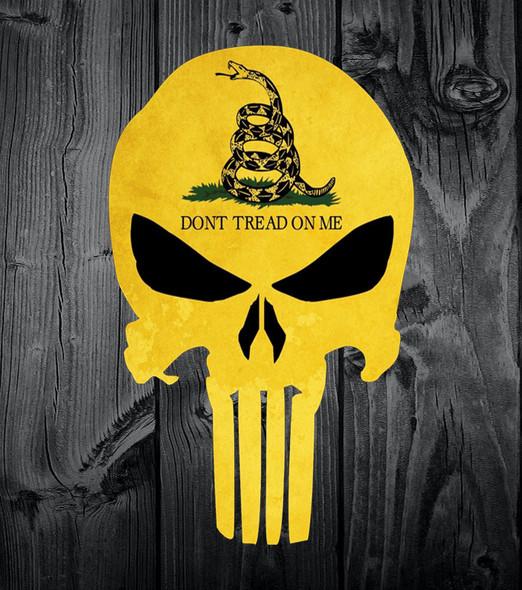 Don't tread on me Punisher Skull Sticker