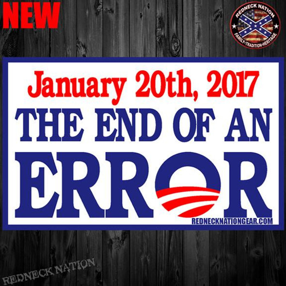 End Of An Error Sticker