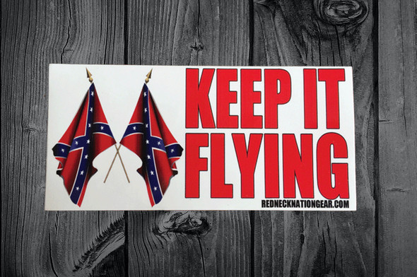 Keep It Flying Sticker 3X6