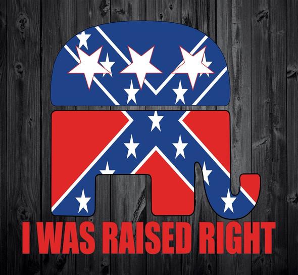 Raised Right Confederate Flag