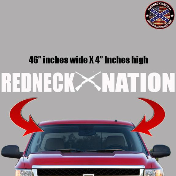 Redneck Nation Block Windshield RNFW-9