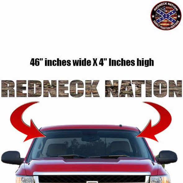 Redneck Nation Break up Country Windshield RNFW-6