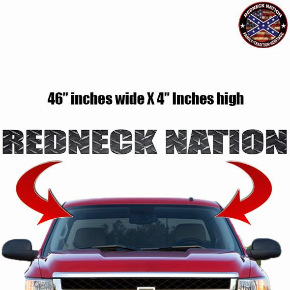 Redneck Nation Diamond Plate Windshield RNFW-5