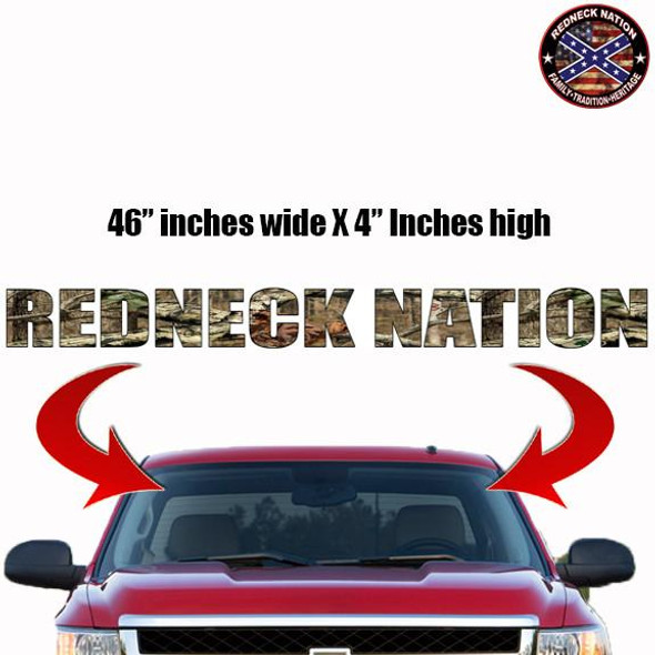 Redneck Nation Mossy oak Windshield RNFW-1