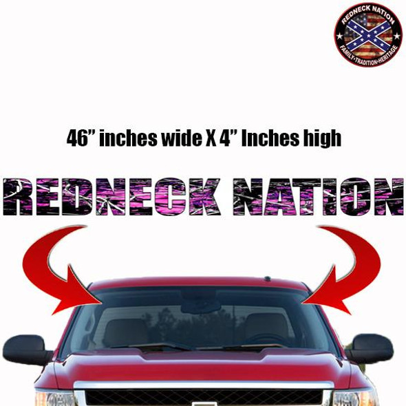 Redneck Nation Muddy Girl Windshield RNFW-4