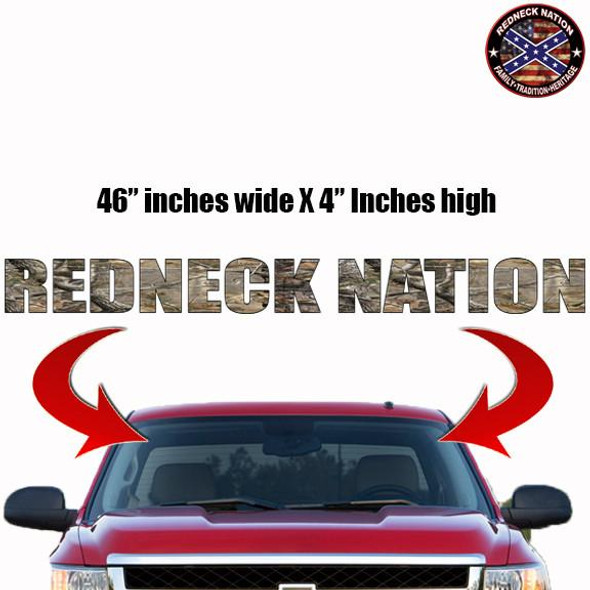 Redneck Nation Realtree Windshield RNFW-2