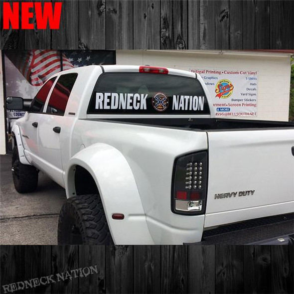 Redneck Nation Round Logo Rear Window RNRW-9