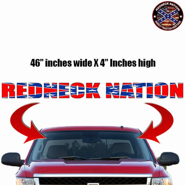 Redneck Nation© Confederate Flag Windshield RNFWS-7