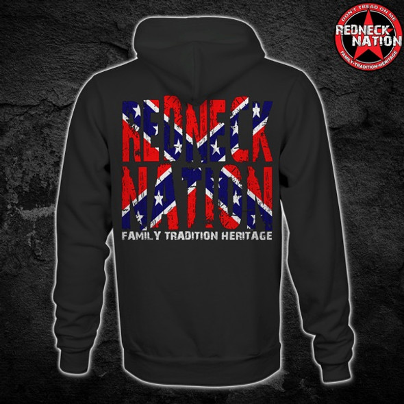 Redneck Nation confederate Hoodie RNH-17