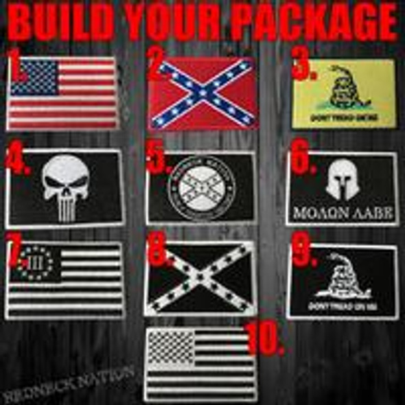 BUILD YOUR OWN Tactical Patch 8 PACK