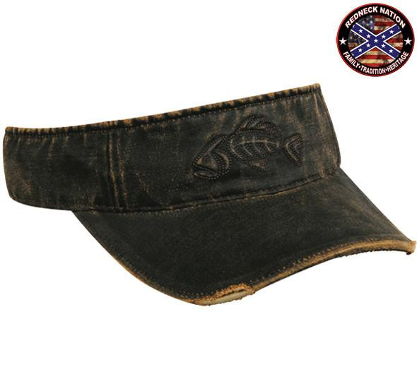 Redneck Nation© Brown Visor Fishing hat-4