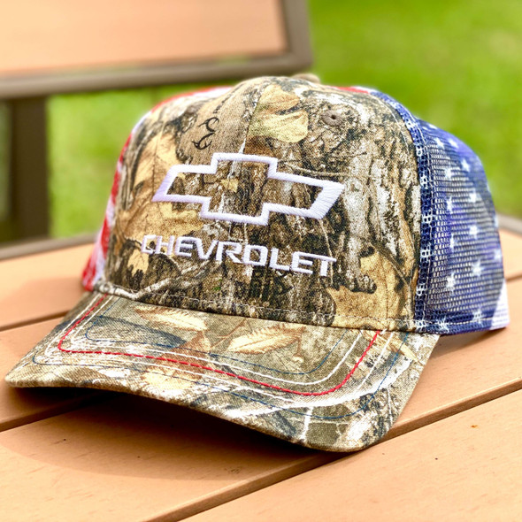 Redneck Nation© Chevy American Flag back TH-8