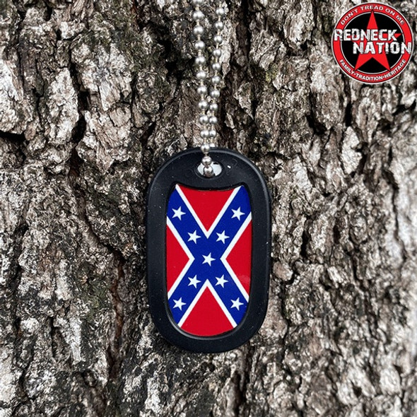 Confederate Dog Tag + FREE Chain + Silencer