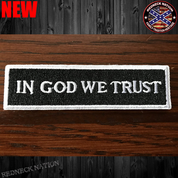 In God We Trust Velcro Back Hat Patch VHP-13