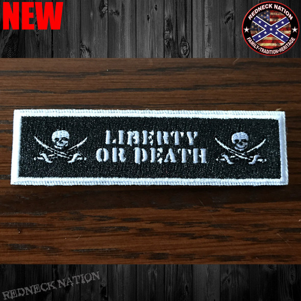 Liberty Or Death Velcro Back Hat Patch VHP-21