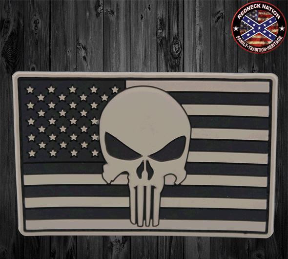 Punisher PVC Flag Velcro Patch VHP-11