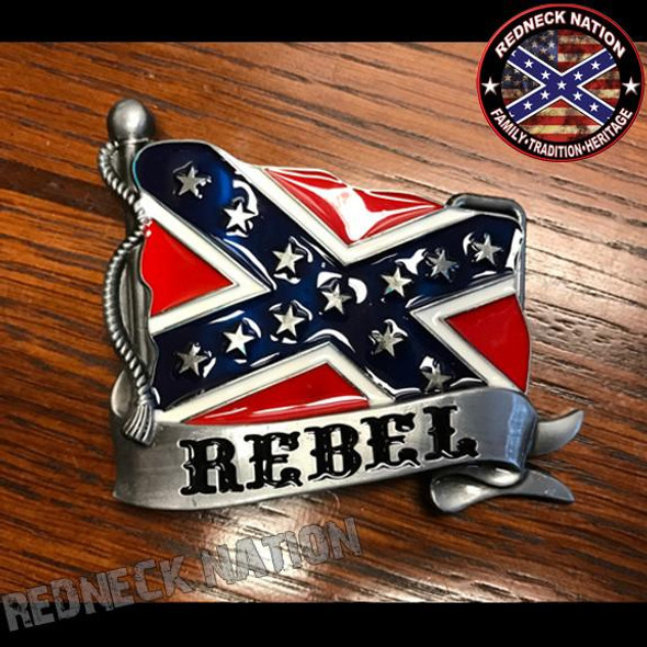 Rebel Confederate Buckle RNBB-1278