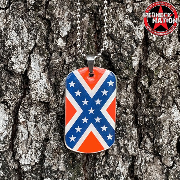 Rebel Flag Dog Tag RNJ-5