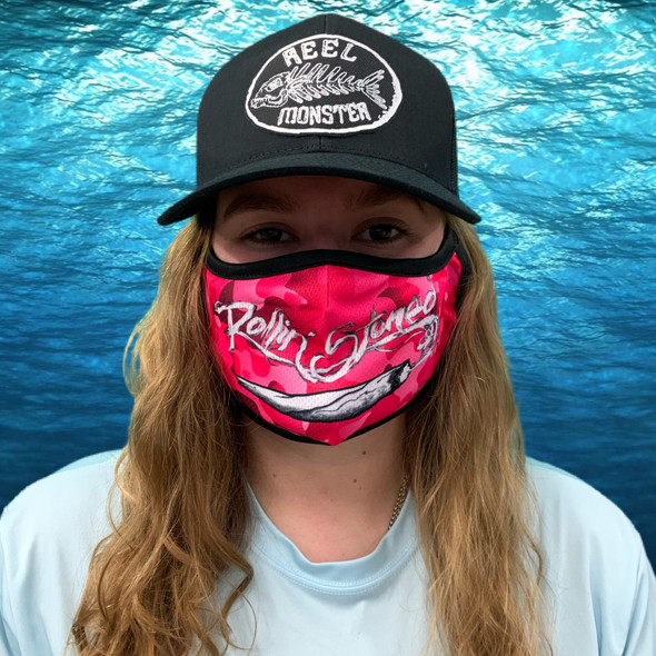 Rollin Stoned Pink Camo Rona mask