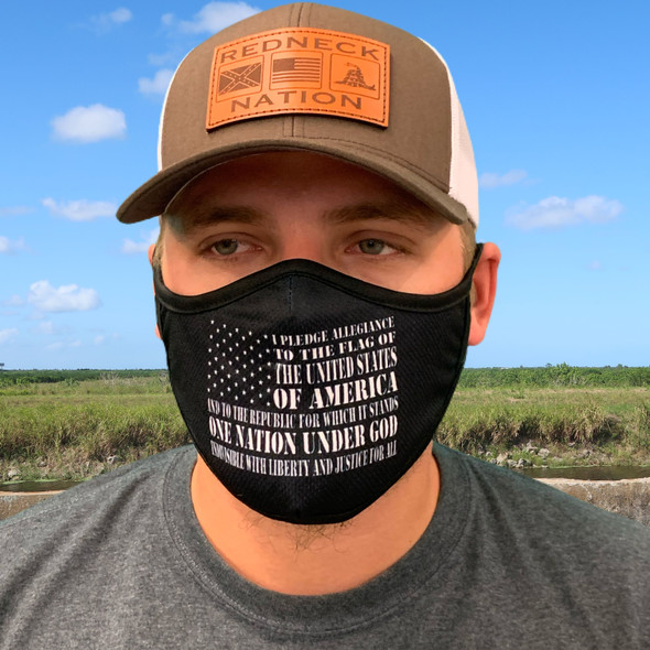 Redneck Nation© Pledge Of Allegiance Rona mask