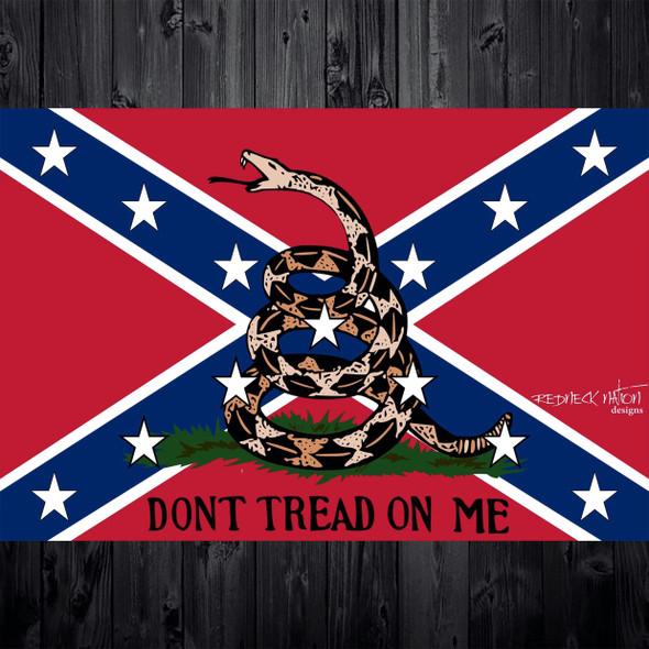 Don't Tread on Me Confederate Flag Sticker