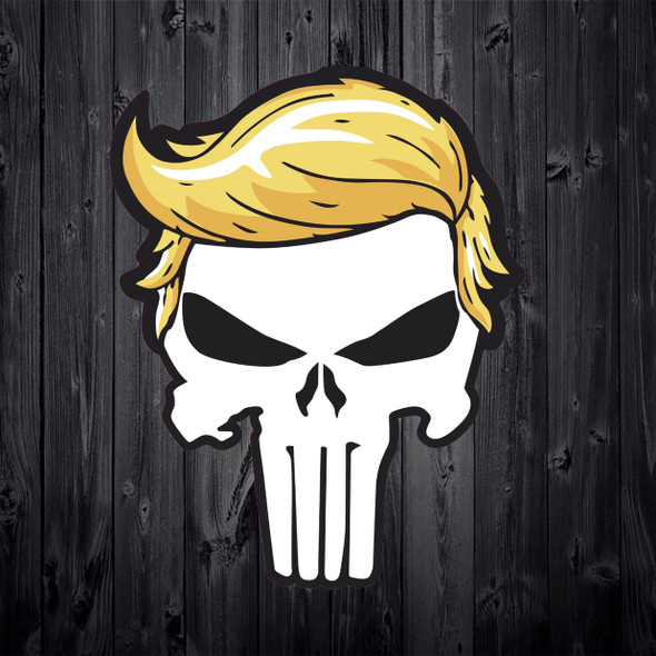 Trump Punisher Skull Sticker