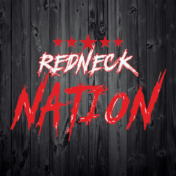 Redneck Nation Red and White