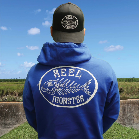 Reel Monster White Hoodie
