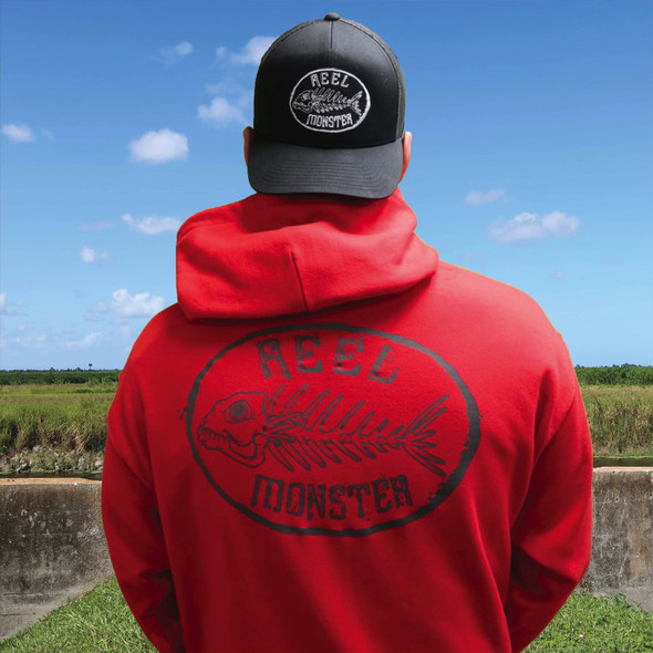 Reel Monster Charcoal Hoodie