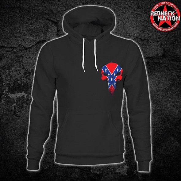 Redneck Nation© Confederate Punisher Hoodie