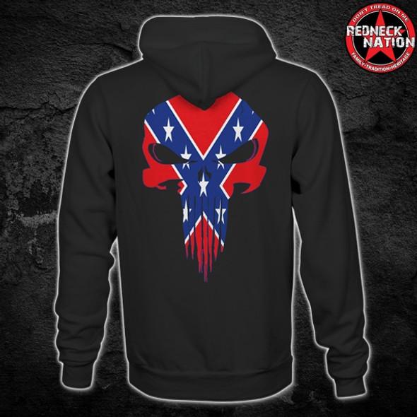 Redneck Nation© Confederate Punisher Hoodie