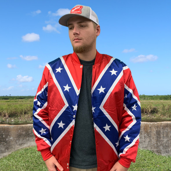 Redneck Nation© Classic Confederate Bomber Jacket