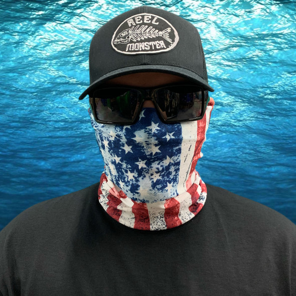 Light Wash American Flag  Face Masks FS-31